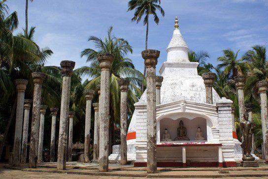 Säulen des Mihintale Klosters