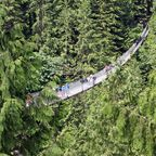 "Starke Nerven benötigt: Die ""Capilano Suspension Bridge"" in Kanada"