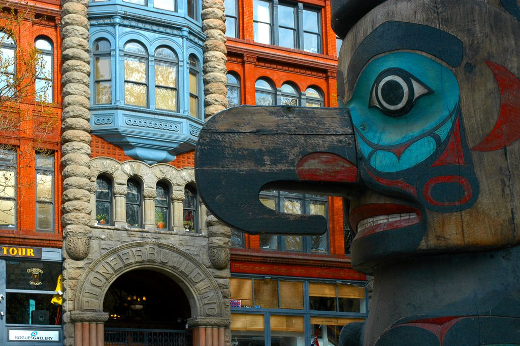 Totempfahl am Pioneer Square
