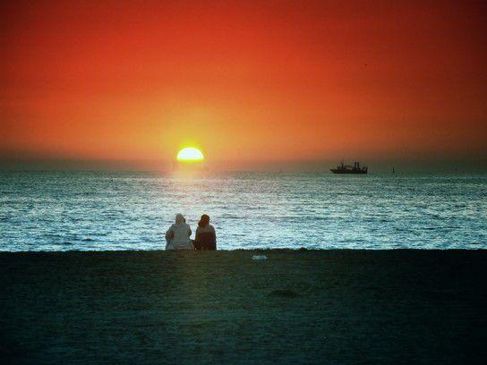 Abends am Strand von Agadir