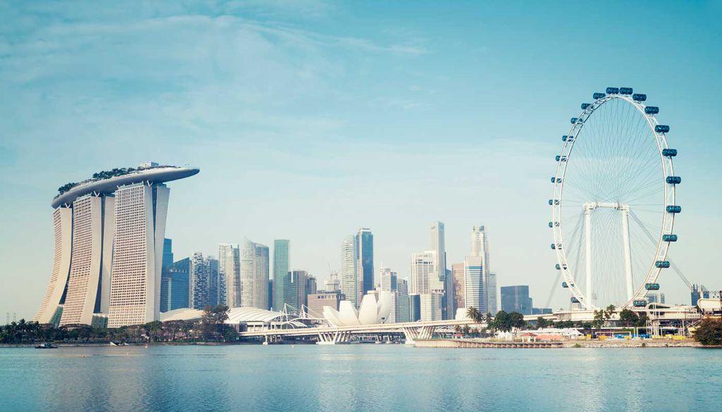 Die Marina Bay ist eines der Highlights von Singapur