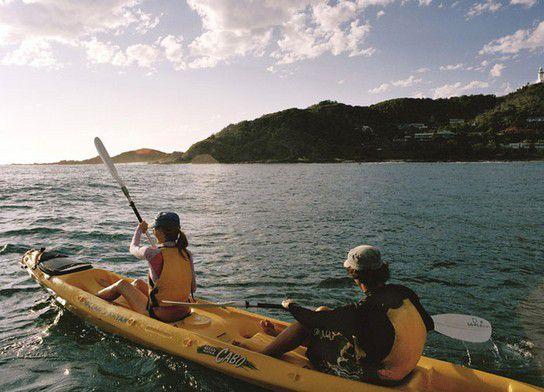 Rudern in der Byron Bay