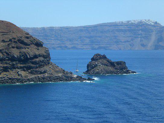 Bucht bei Santorin