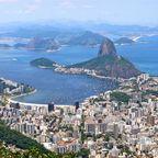 Blick vom Corcovado auf Rio