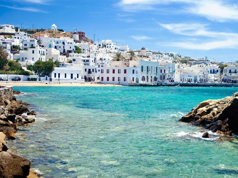 Die Insel Mykonos ist für ihr Nachtleben berühmt.