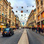 Oxford Street mit Weihnachtsbeleuchtung