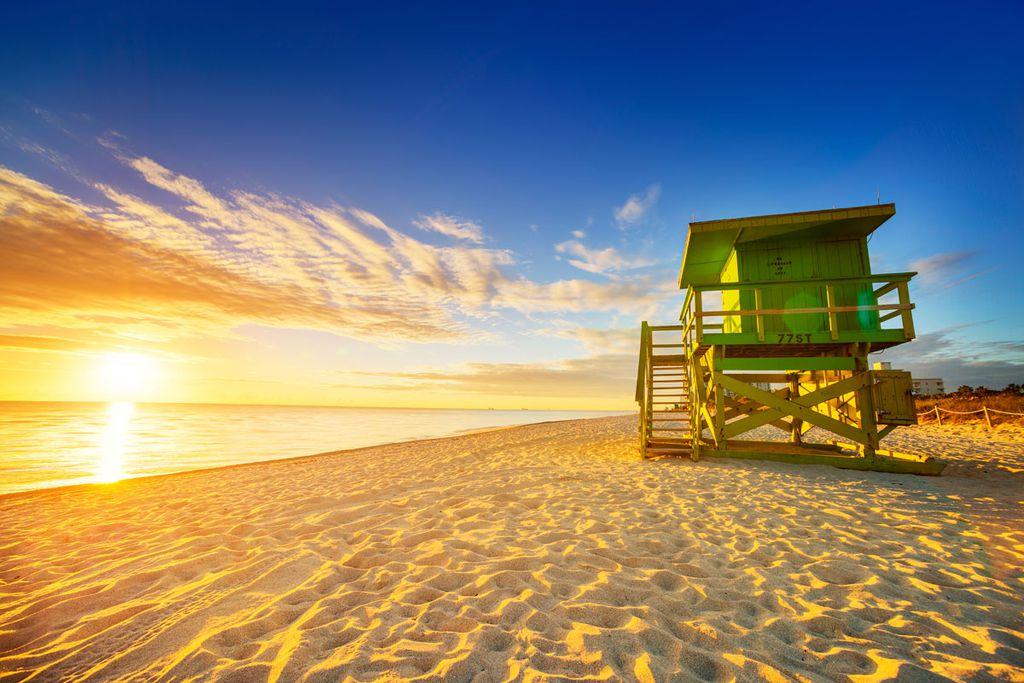 Am Miami Beach genießt man den American Way of Holiday