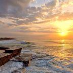 Sonnenaufgang an einem stürmischen Tag