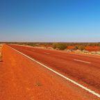 Känguru-Schild im australischen Outback