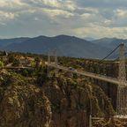 """Ehemals höchste Hängebrücke der Welt: Die 219 Meter hohe """"Royal-George-Bridge"""" in Colorado"""