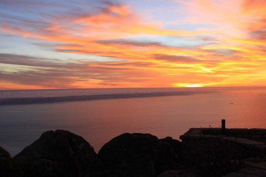 Sonnenuntergang vom Tafelberg