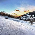 Winterlicher Sonnenuntergang über Radenthein