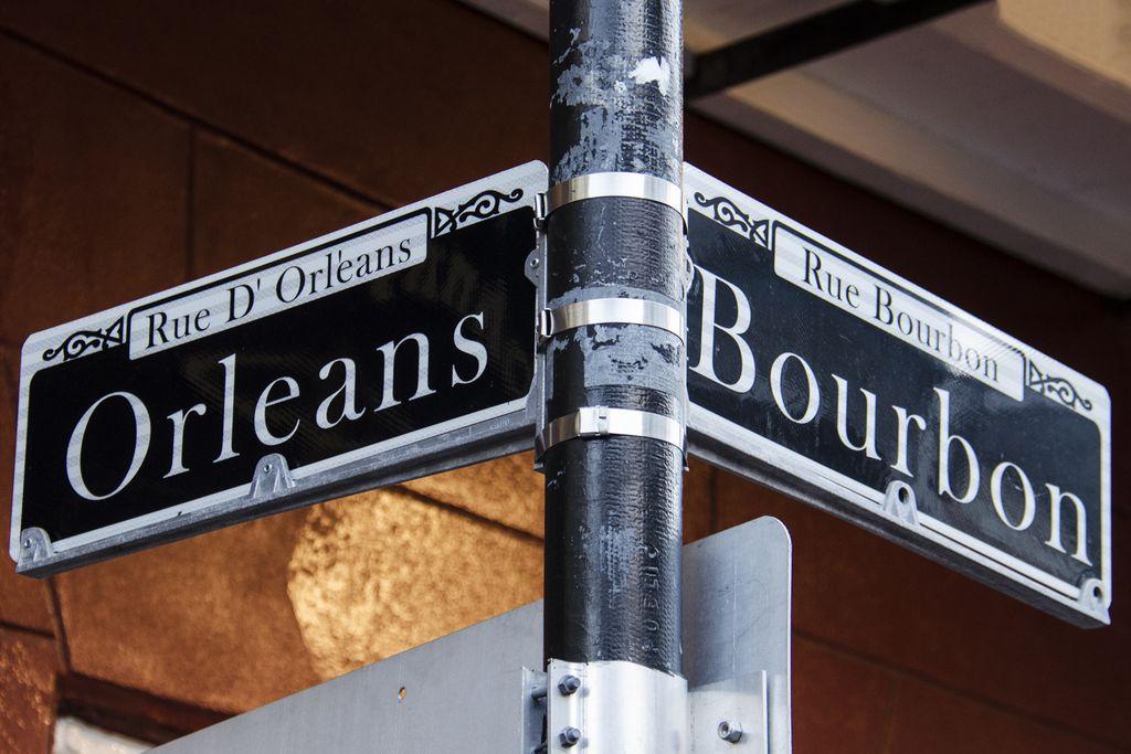 Straßenschilder im French Quarter