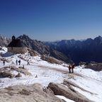 Erster Schnee auf der Zugspitze