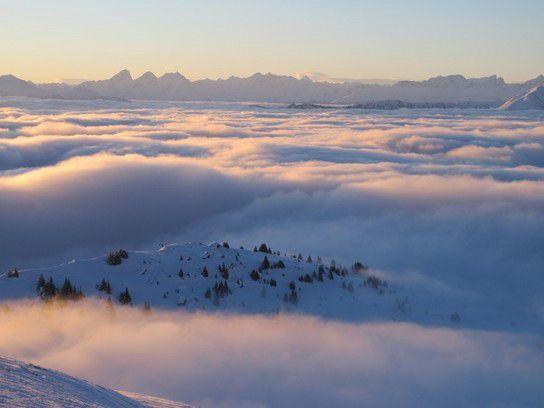 Über den Wolken in Laax