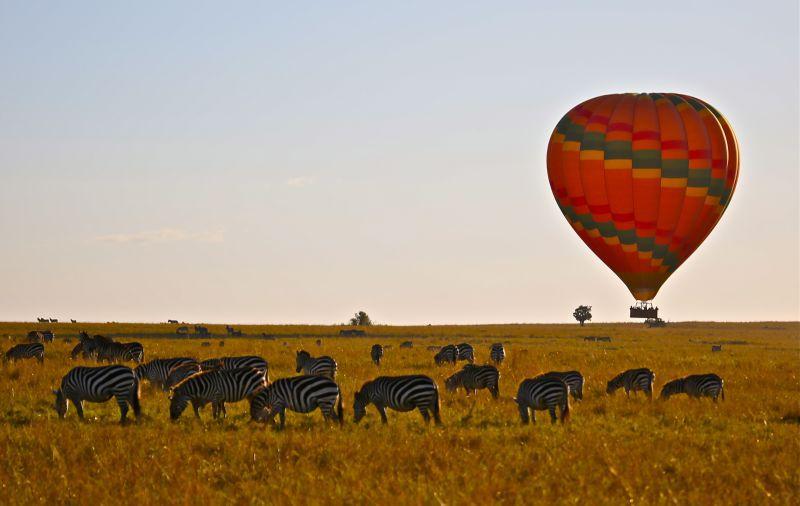 Ballonfahrt über die Steppe