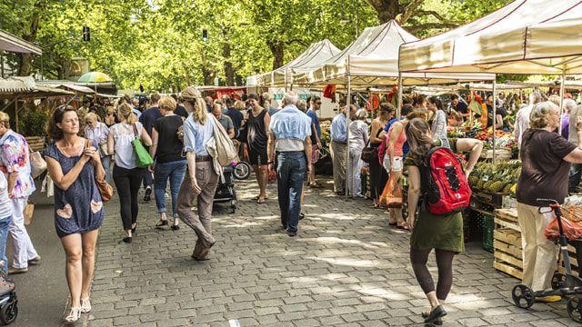Wöchentlicher Markt im Prenzlauer Berg