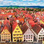 Auf dem 4. Platz landete die Altstadt von Rothenburg ob der Tauber