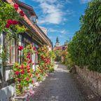 Die Stadt Visby an der Westküste