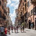 Die Shoppingmeile Via del Corso