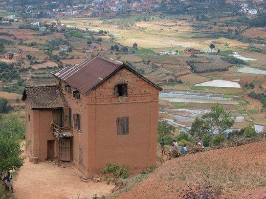 in einem kleinen Dorf auf Madagaskar