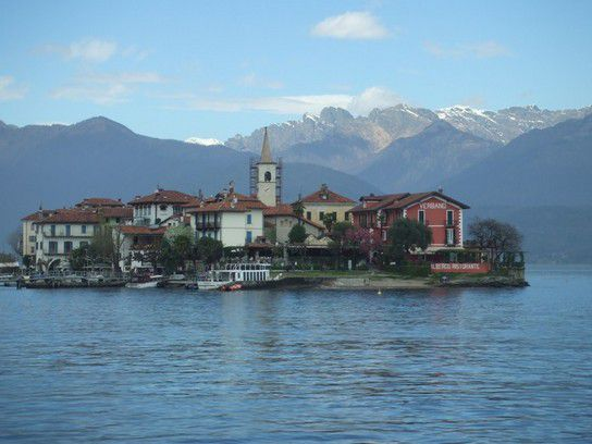 Isola Pescatori im Lago Maggiore, Südtirol, Italien