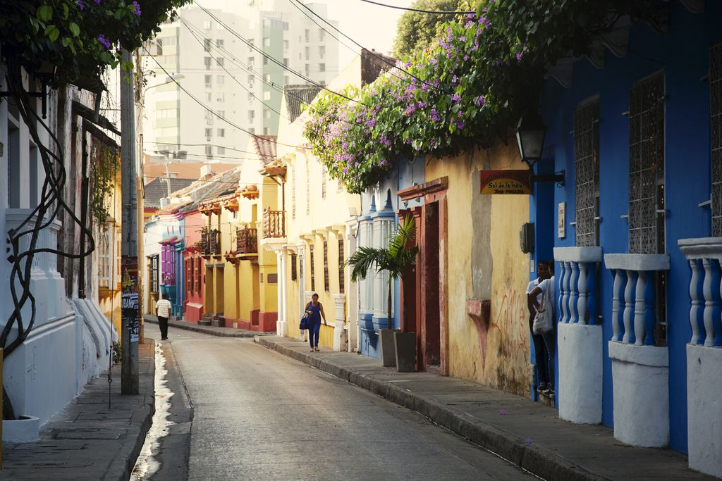 Früher Morgen in den Straßen von Kolumbien