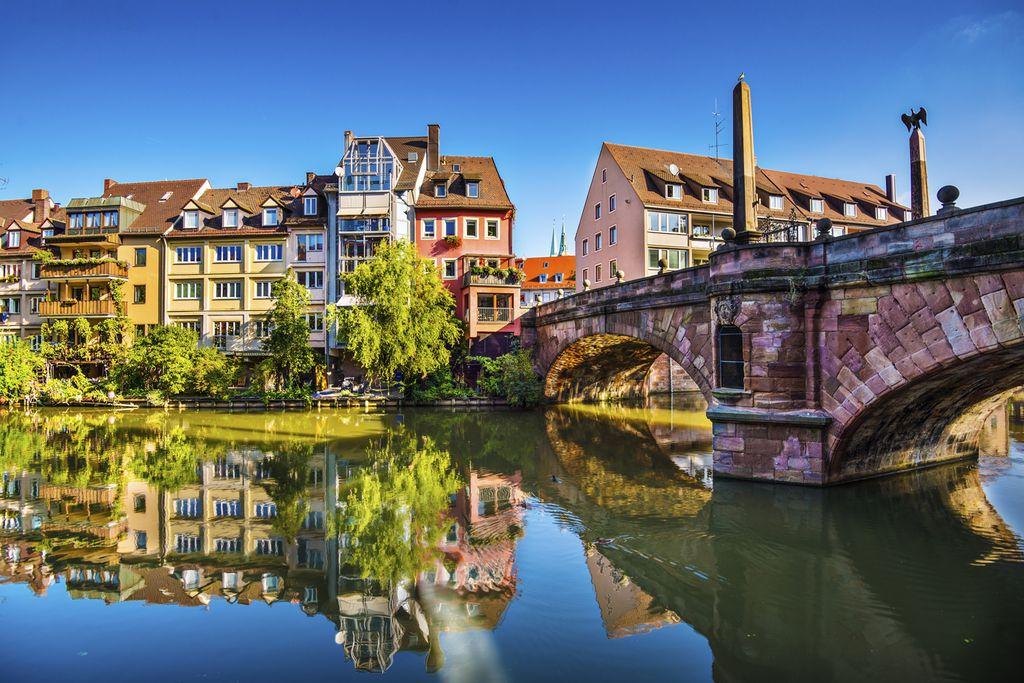 Häuserfassade in Nürnberg