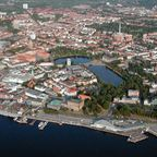 Kiels Stadtzentrum aus der Luft