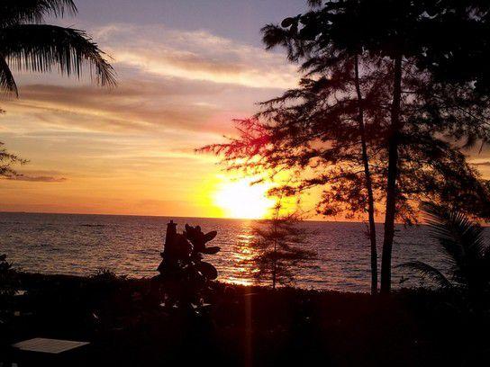Sonnenuntergang am Sunset Beach Khao Lak