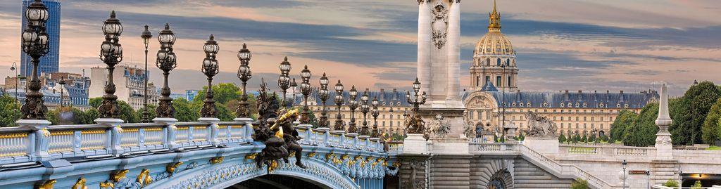 Die berühmte Brücke Pont Alexandre III