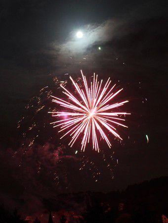 Vollmond-Feuerwerk