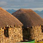 Traditionelle Hütten auf der Isle of Skye