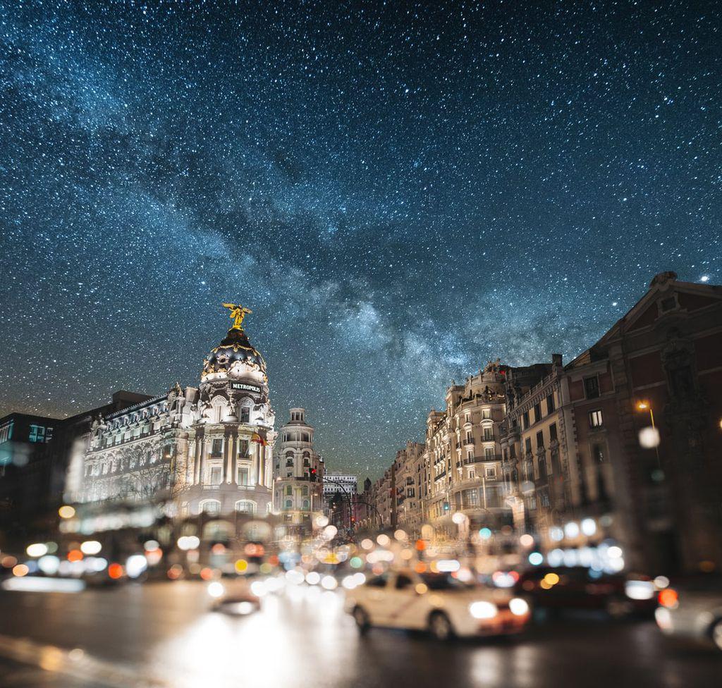 Sternenhimmel über Madrid