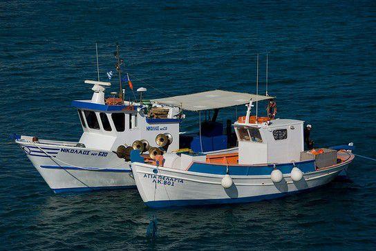 Zwei Fischerboote